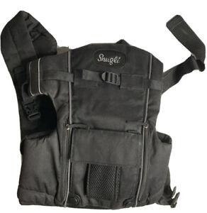 Evenflo Snugli Black Baby Carrier Adjustable Hiking Backpack