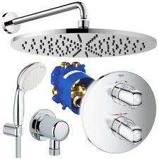 Grohe & Ideal Standard Unterputz Duschsystem, Kopfbrause, Grohtherm Thermostat