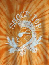 Shock Top Brewing Co Tie Dye Tee Shirt Belgian White Wheat Ale Men's Large NWOT