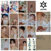 16pcs/set Kpop ASTRO BLUE FLAME 6th Album Photocard Lomo Postcard EunWoo MoonBin