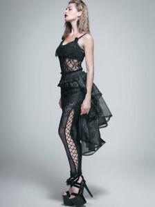 Burlesque Gothic Spitzen Minirock mit Schleppe viktorianisch skirt