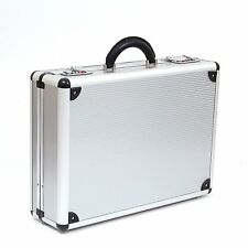 Laptop carrier Combination Lock Organizer Attache Briefcase Aluminum Silver AL53