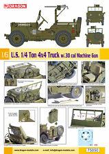 Dragon 75050 - 1/6 US 1/4 Tone 4X4 Truck with 30 Aa. Machine Gun - New