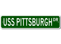 USS PITTSBURGH SSN 720 Street Sign - Navy