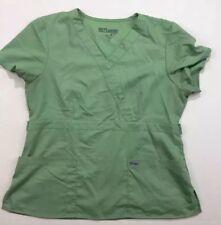 Greys Anatomy Womens Scrub Top Two Pocket Green V Neck Scrubs Shirt Sz XL
