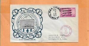 U.S.S. CAMBRIA SECOND TO NONE FEB 8,1954 NAVAL COVER