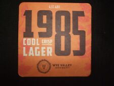PUB COASTER - Wye Valley Brewery - 1985 Cool Crisp Lager (UK) - NEW