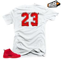 Shirt to Match Jordan 12 Bulls-23 White Tee