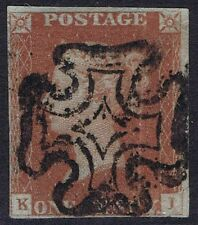 1841 1d Red Pl 13 KI 4m Upright MX Cat £170.00