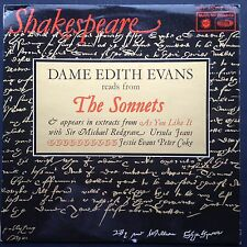 DAME EDITH EVANS Reads SHAKESPEARE SONNETS LP 66 As You Like It Michael Redgrave