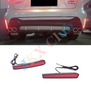 2Pcs LED Rear Bumper Reflector Lamp Brake Lamp j Fit For Toyota Corolla 2019 20