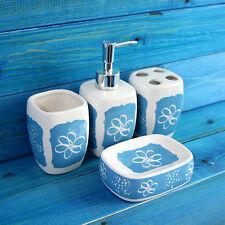 Ceramic Floral Bath Accessory Sets