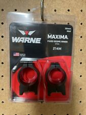 Warne Maxima 214M 30 mm Medium Scope Rings Fixed Steel - Matte Black - Pre Owned
