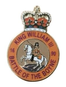 King William III Ulster Orange Order Unionist Loyalist Metal Enamel Pin Badge