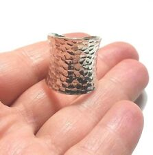 TURKISH HANDMADE JEWELRY 925 STERLING SILVER WOMENS HAMMERED RING ADJUSTABLE 6-7
