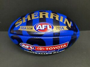 AFL SHERRIN AUSTRALIAS GAME BLUE LEATHER OFFICIAL GAME FOOTBALL BOXED MCG MCC