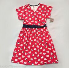 NWT Tea Collection boutique red floral wrap belted summer dress girls sz 12
