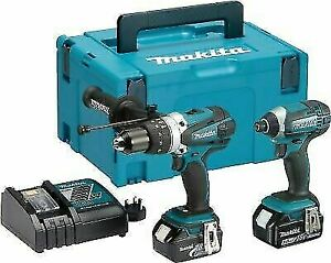 Makita DLX2145TJ 18V Combi and Impact Drill - Twin Pack 2X5ah batteries