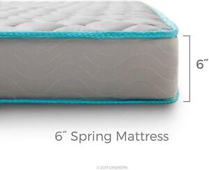 Innerspring Mattress 6-inch Spring Support Firm Bed  Hospital Twin Home