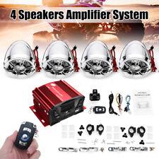 4 Speakers Motorcycle bluetooth Amp Amplifier Stereo Radio System Waterproof