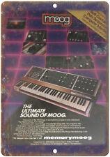 "MOOG Minimoo Polyphonic Keyboard 10"" x 7"" Reproduction Metal Sign E15"