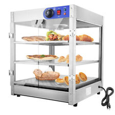 3 Tier Commercial Food Warmer Court Heat Food Pizza Display Warmer Cabinet Glass