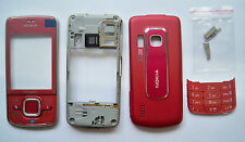 Full Red Housing Cover Fascia facia case nokia 6210 Navigator 6210N with keypad