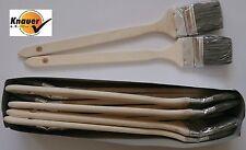 12 x Maler Heizkörper Pinsel 70/75 mm Borste grau Winkel Ecken Heizkörperpinsel