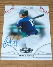 Brewers Mat Gamel Autographed Card