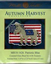 Democrat Patriotic Blue Donkey Glass Bead Kit w/ Magnet by Mill Hill