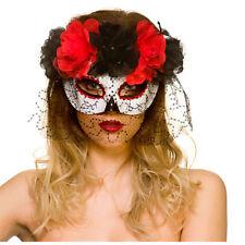 jour des morts masque pour les yeux avec voile Femmes Halloween déguisement
