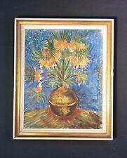 Aktiva Vita dei fiori. Originale antico Dipinto a olio, firmato KIRAN