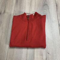 Peter Millar 100% Merino Wool 1/4 zip Vest Size 2XB Red