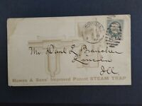 Rhode Island: Providence 1882 Hawes & Son Steam Trap Advertising Cover