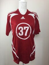 Adidas Men's Sports Top T Shirt Size Medium M Red Clima365 workout running  37