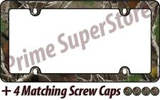 Camouflage Hunting Nature Black License Plate Frame Car/Truck Tag Holder/Cover