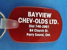 BAYVIEW CHEVROLET OLDS CAR DEALER PARRY SOUND ADVERTISING KEY CHAIN FOB KEY RING
