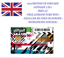 2PCS £0.99 UK 4G SIMCARD IPHONE ANDROID FREE £5 EUROTRIP WORLDWIDE FREE POSTAGE