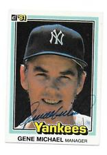 GENE MICHAEL 1981 DONRUSS AUTOGRAPHED SIGNED # 500 YANKEES DECEASED