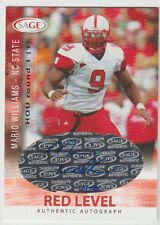 MARIO WILLIAMS Signed 2006 SAGE Red Level Autograph #A56 SP RC AUTO #10/700