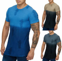 Herren T-Shirt Oversize Long Shirt Kurzarm 2 Töne Slim Fit 1042 John Kayna