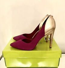 Ted Baker Purple and Gold Heels Size 7 EU 40 Court Shoes