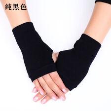 1Pairs Women Men Fingerless Gloves Wrist Hand Warmer Knitted Gripper Mittens US