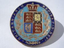 BEAUTIFUL 1874 VICTORIA HALF CROWN 6 COLOUR HAND ENAMELLED & GILT COIN