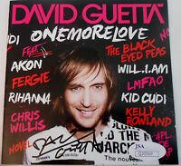 David Guetta Signed One more Love CD Booklet Cover w/JSA COA Q30569