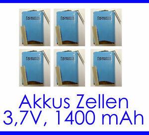LI-ION Rechargeable Battery Cell CGP345010 Akkuelement Lilon Item 1400mAh 1,4Ah