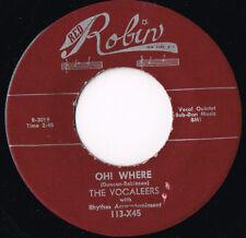THE VOCALEERS be true U.S. RED ROBIN 45rpm 113X45_RARE R&B repro