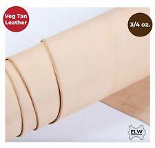 "ELW 100% Veg Tan Full Grain Leather 3/4 oz. (1.2-1.6mm) Tooling Pre-Cut 6""-48"""