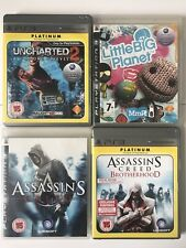 PS3 Game Bundle -Uncharted 2+Assassins Creed+Brotherhood+Little Big Planet -(865