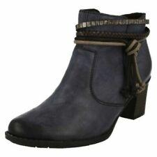 Calzado de mujer botines azules Rieker